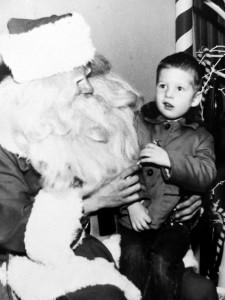 Brad with Santa
